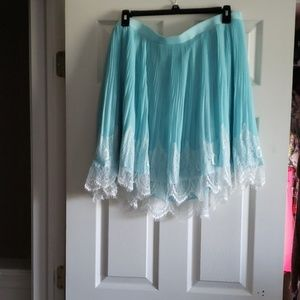 Pretty in blue and lace Torrid skirt
